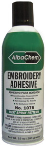 Albatross AlbaChem 1076 Embroidery Stabilizer Adhesive Spray Cans 6x10oz