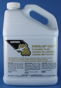 Albatross 1810 Ever Blum Gold Textiles Dry Cleaning Fluid 1 Gallon, Fast Drying Non Flammable for Apparel, Clothing, Bedding. Furniture, Ships Ground