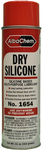 Albatross AlbaChem 1654 Dry Silicone Lubricant 11oz Spray Cans, 6 Pack