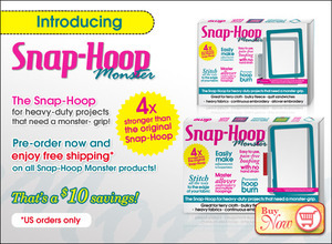 Snap Hoop Monster Grip Frames and Magnetic Tops for 1 Single Needle Embroidery Machines* 4 Times Stronger! No Need for Sticky Stabilizers, 7 Extras