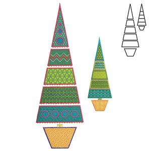 AccuQuilt GO! 55096 Sparkle-Slim Tree Die by Sarah Vedeler