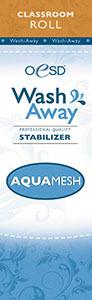 "OESD Stab-Wam AquaMesh WashAway Water Soluble Stabilizer White 10""x2Yds"
