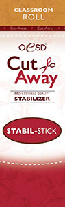 "OESD STAB-CSS Stabil Stick Adhesive Cut-Away Stabilizer Backing 10""x3Yd Classrooms"