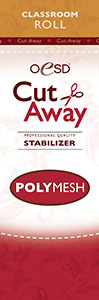 OESD STAB-CPM PolyMesh Cut Away Embroidery Stabilizer White 10in X 5Yds Classroom Size Roll