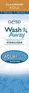 "OESD AquaFilm WashAway Stabilizer Water Soluble Topping 10""x5Yds"