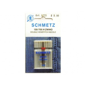 Schmetz Double Hemstitching Wing Needles, 10 Pack 130/705H ZWIHO, 2.5mm Width 1Size 100/16, Light Medium Weight Loosely Woven Fabrics Heirloom Cutwork