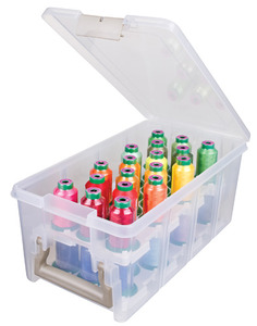41768: Isacord IS6925IT Semi Satchel Thread Box w/Trays (36 Spools Not Included)