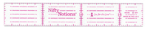 Nifty Notions NN318CM Cut for the Cure 3 cm x 18 cm Ruler