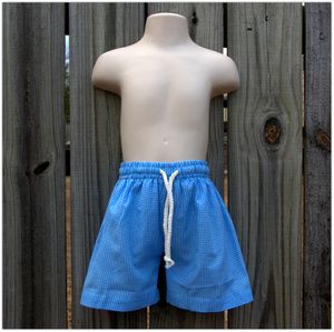 Embroidery Blanks Boutique Swim Trunks, Turquoise Size: 6