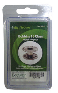 Nifty Notions NN-34 Class 15 Metal Bobbins 10 Pack, Parts and Accessories