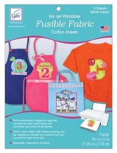 June Tailor JT-929 FFusible Fabric (3 sheets/pack) Ink Jet Printable Cotton Sheets