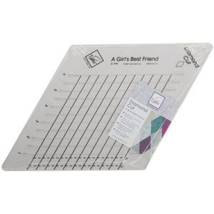 """June Tailor JT-799 Diamond Slotted Ruler Cut 1"""" to 6"""" diamonds in 1/4"""" increments, 60 Degree Quilting Diamonds"""