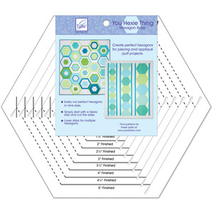 June Tailor JT-782 You Hexie Thing Hexagon Slotted Ruler Create Perfect Hexagons for Piecing and Appliqué Quilt Projects in 9 Sizes*