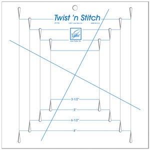 June Tailor JT-775 Twist 'n Stitch Ruler, Create Perfect Pinwheel Quilts, Borders and Blocks