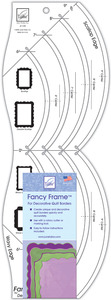 June Tailor JT-739 Fancy Frame Ruler For Decorative Quilt Borders, Make Easy scallops