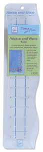 June Tailor JT-736 Weave 'n Wave Ruler, Fleece With Flair