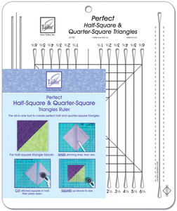 June Tailor JT-732 Perfect Half-Square and Quarter-Square Triangles Ruler