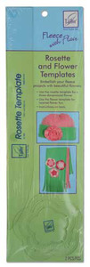 June Tailor JT-709 Rosette and Flower Template Fleece With Flair