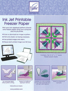 "June Tailor JT-408 InkJet Printable Freezer Paper Ten 8-1/2"" x 11"" Sheets"