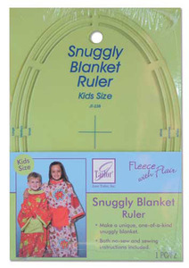 June Tailor Fleece With Flair JT-238 Snuggly Blanket Template Ruler Kid/Child Size