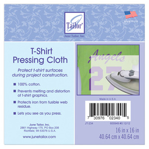 "June Tailor JT234 16x16"" Pressing Cloth Protects T-Shirt Designs Prints"
