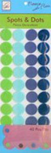 June Tailor Fleece With Flair JT-215 Spots 'n Dots Fleece Decorations (Blue/Green)