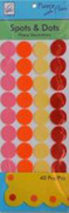 June Tailor Fleece With Flair JT-214 Spots 'n Dots Fleece Decorations (Pink/Orange)