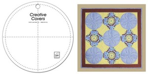 June Tailor JT-1702 Creative Covers Circle Shape Template for Openwork Designs Quilts