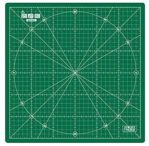 """Olfa RM-3030cm 12x12"""" Metric 360º Spinning Circular Rotary Cutting Mat"""
