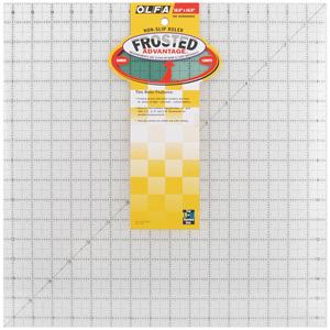 "Olfa QR-16S Square Frosted Advantage 16.5"" x 16.5"" Non-Slip, Acrylic Ruler"