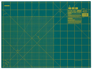 "Olfa RM-ICS Rotary Cutting Mat 18x24"" Self Healing Double Side Gridded"
