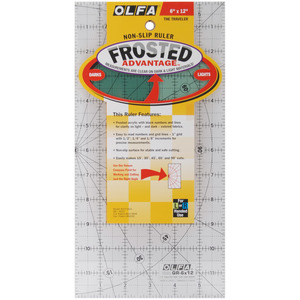 "12.5/"" x 12.5/"" Olfa Non Slip Frosted Ruler"