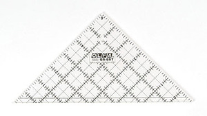 "Olfa QR-6RT Frosted Advantage 6.5""  Right Triangle Non-Slip, Acrylic Ruler"