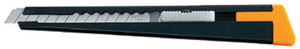 Olfa 180 Utility Knife Light Duty Cutter 9mm Snap Off Blade Edges, Metal Body