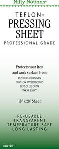 "Nifty Notions 2432 Teflon PTFE Non Stick Ironing Board Pressing Sheet 18x20"""
