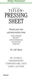 "Nifty Notions 2431 18x20"" Standard Grade Non Stick Iron Pressing Sheet"