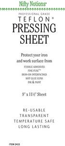 Nifty Notions 2433, 9x11in Professional Grade, PTFE Non Stick Teflon Pressing Sheet