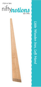 Nifty Notions 7891  Left-Little Wooden Iron Tool