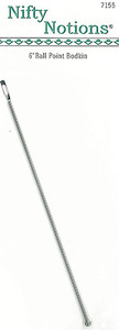 """Nifty Notions 7155 6"""" Ball Point Bodkin"""