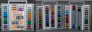 Sulky Metallic Dream Package Slimline Embroidery Thread, 24 colors of Sliver, 24 colors of Holoshimmer and 36 colors of the original Metallics