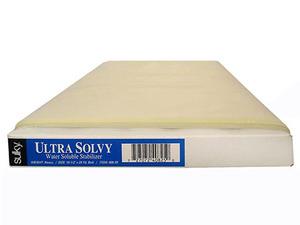 "Sulky, 408-25, Ultra, Solvy, 25yd, 19, 1/2"", Heavy, Stabilizer, Water, Soluble"