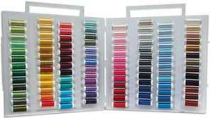 Sulky 885-14 Fleshtones Embroidery Photo Stitch Slimline Threads Box, 104 Colors of 40wt Rayon on 250Yd Spools