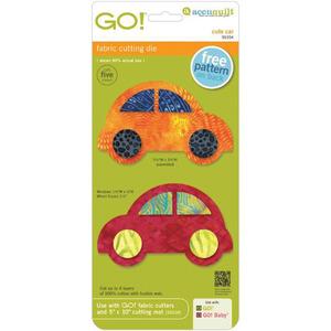 AccuQuilt, GO!, 55354, Cute, Car, Fabric, Cutting, Die, accu, quilt
