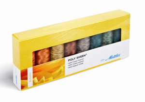 Mettler PS83 Polysheen Embroidery Thread Autumn Gift Pack 8 spools
