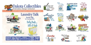 Dakota Collectibles 970479 Laundry Talk Embroidery Machine Designs CD