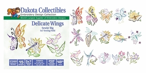 Dakota Collectibles 970468 Delicate Wings Multi-Formatted CD Embroidery Machine Designs