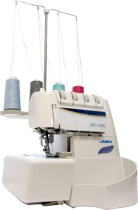 Juki MO-1000 Serger, Jet Air Loopers, Auto Needle Threaders, DVD, 10Yr Extended Parts and Labor Warranty, 12 Months 0% Interest Financing Available
