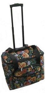 P60723 Sewing Machine Wheeled Rolling Travel Tote Bag Trolley Case 18X8.5X14 Inches, Floral Tapestry Finish