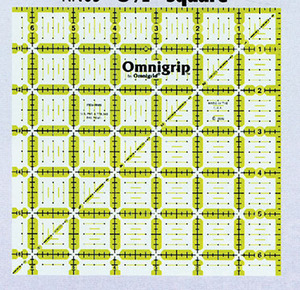 "Omnigrid OGN65 Quilter's Square Ruler 6.5""Square Ruler, Angles & Grid , Non Slip, for Quilting and Sewing"