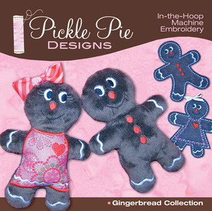 Pickle Pie Designs Gingerbread Collection  Embroidery Designs CD